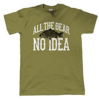 Vectorbomb, All The Gear, No Idea, Mens Funny Fishing T Shirt