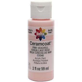 Ceramcoat Acrylic Paint 2oz-Pink Seashell 2000-3046