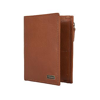 FOSSIL men's wallet Portemonnaue apparent Pocket credit card holder camel 2128