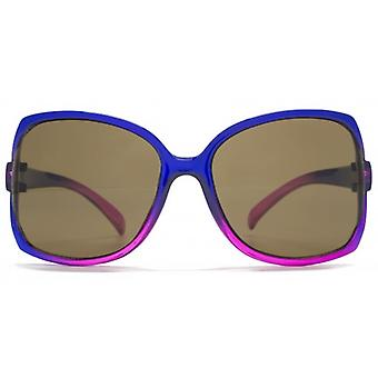 Monkey Monkey Childrens Millie Cut Away Detail Square Sunglasses In Purple To Pink Gradient