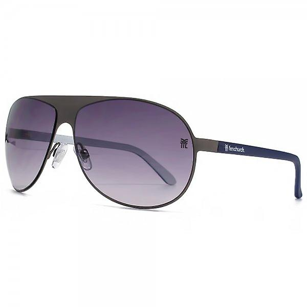 Fenchurch Flatsheet Aviator Sunglasses In Gunmetal