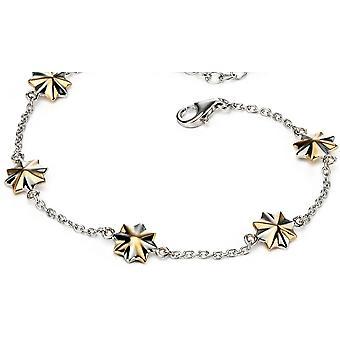 925 Silver Gold Plated Stars Bracelet