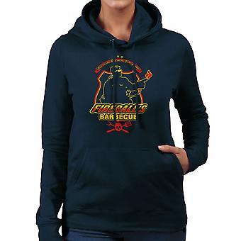 Fireballs BBQ Running Man Women's Hooded Sweatshirt