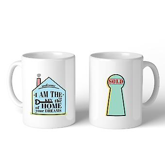 Key To The Home Of Your Dreams Unique Realtor Ceramic Coffee Mug