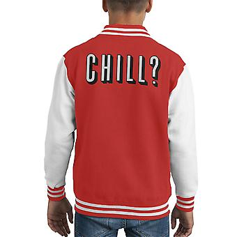 Chill Out Netflix et réfrigérer Varsity Jacket de Kid