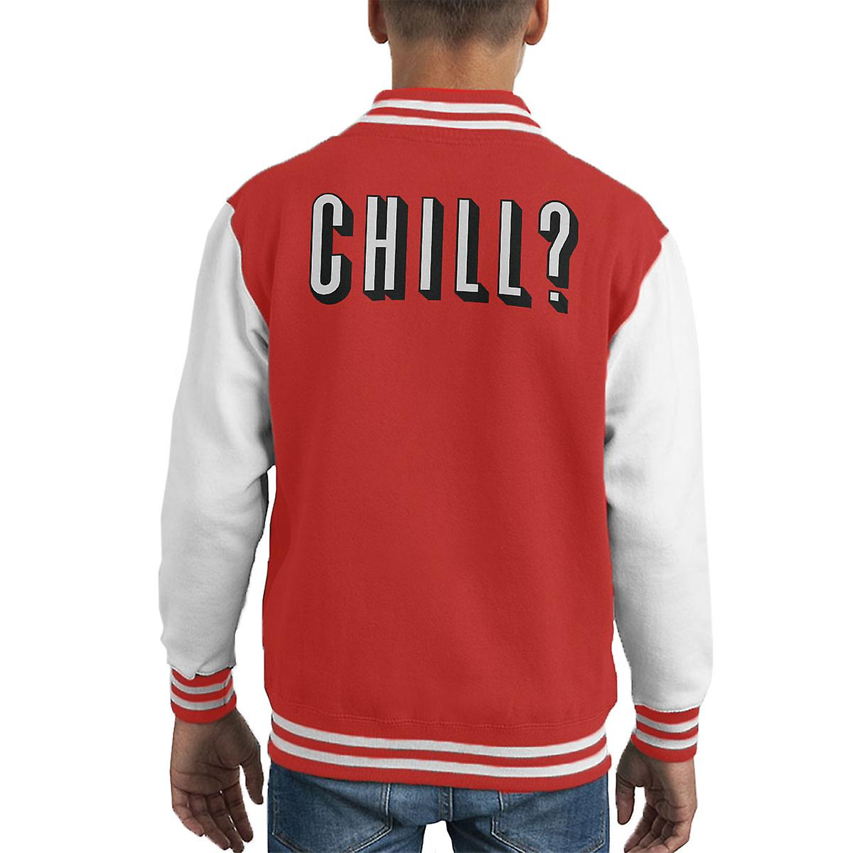 Chill Out Netflix And Chill Kid's Varsity Jacket