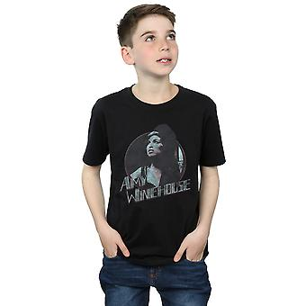 Amy Winehouse Boys Distressed Circle T-Shirt