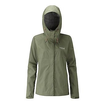 Rab Womens Downpour Jacket Field Green (Size UK 10)