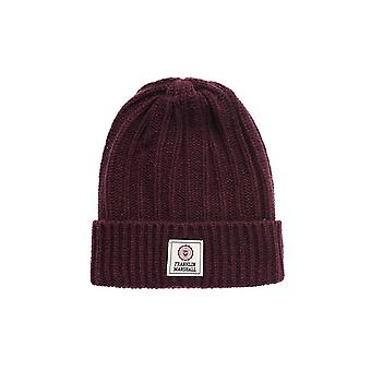 Franklin & Marshall Ua904 Ribbed Vintage Port Beanie Hat