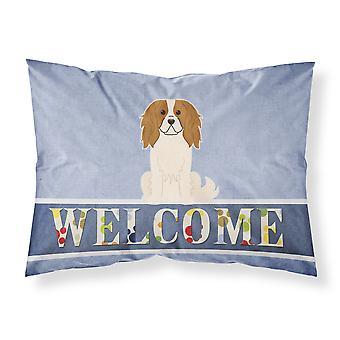 Cavalier Spaniel Welcome Fabric Standard Pillowcase