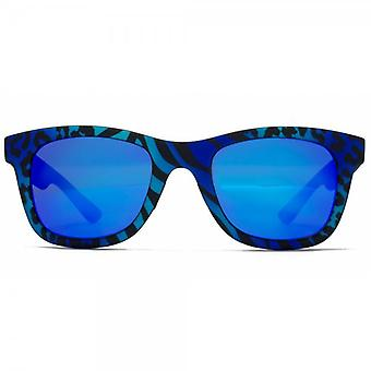 Italia Independent I-I Mod I-Peach 0090 Retro Sunglasses In Zebra Blue