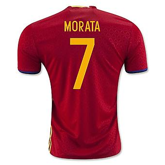 2016-2017 Spanje thuis Shirt (Morata 7)