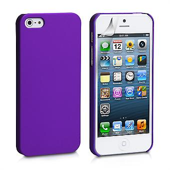 Yousave Accessories Iphone 5 And 5s Hard Hybrid Case - Purple