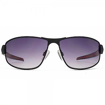 FCUK Metal Sports Wrap Sunglasses In Matte Black