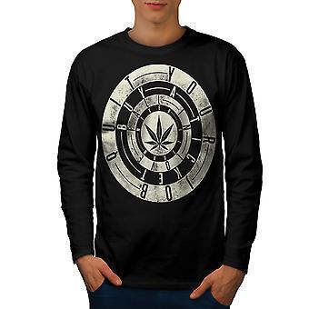 Inspirational Weed Rasta Men BlackLong Sleeve T-shirt | Wellcoda