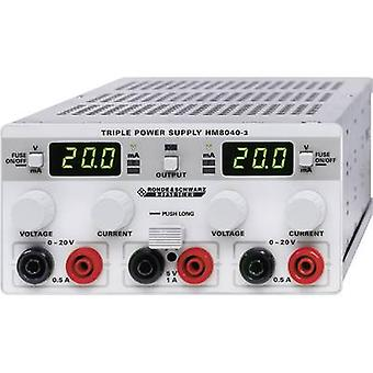 Bench PSU (adjustable voltage) Rohde & Schwarz HM8040-3 0 - 20 Vdc 0 - 0.5 A 25 W No. of outputs 3 x