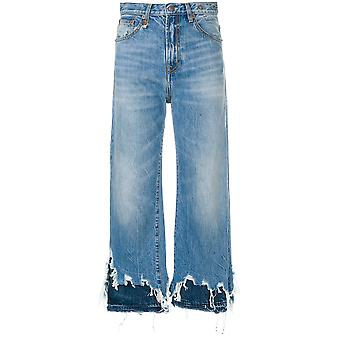 R13 women's R13W5668147JASPER light blue cotton of jeans