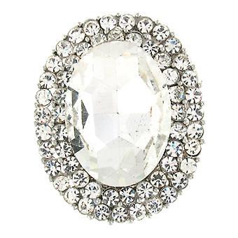 Broches Store Silver en Crystal ovaal Corsage jurk broche