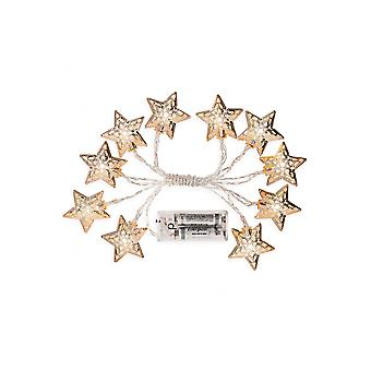 Andrew James String Of 10 Silver Star Fairy Lights