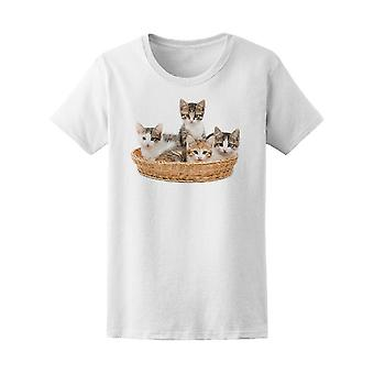 Young Kittens Cat Basket Tee Women's -Image by Shutterstock