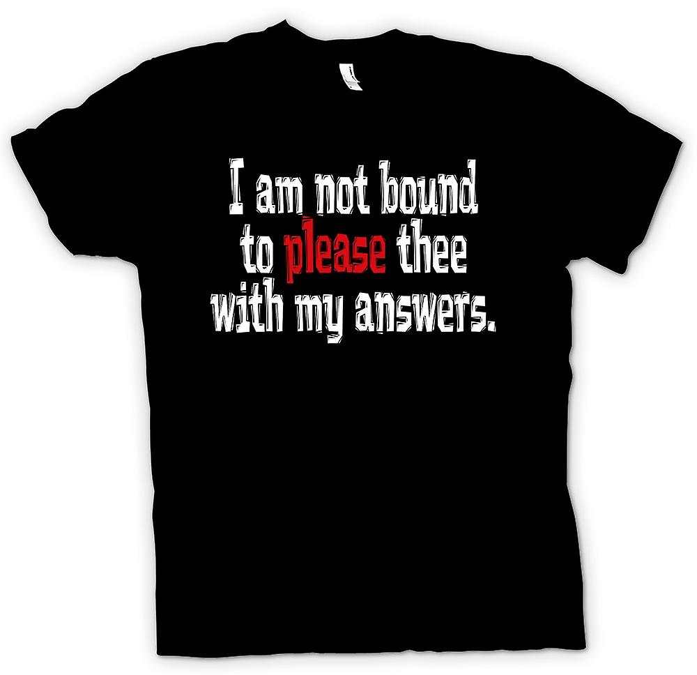Kids T-shirt - Shakespeare Quote I am not bound to please thee