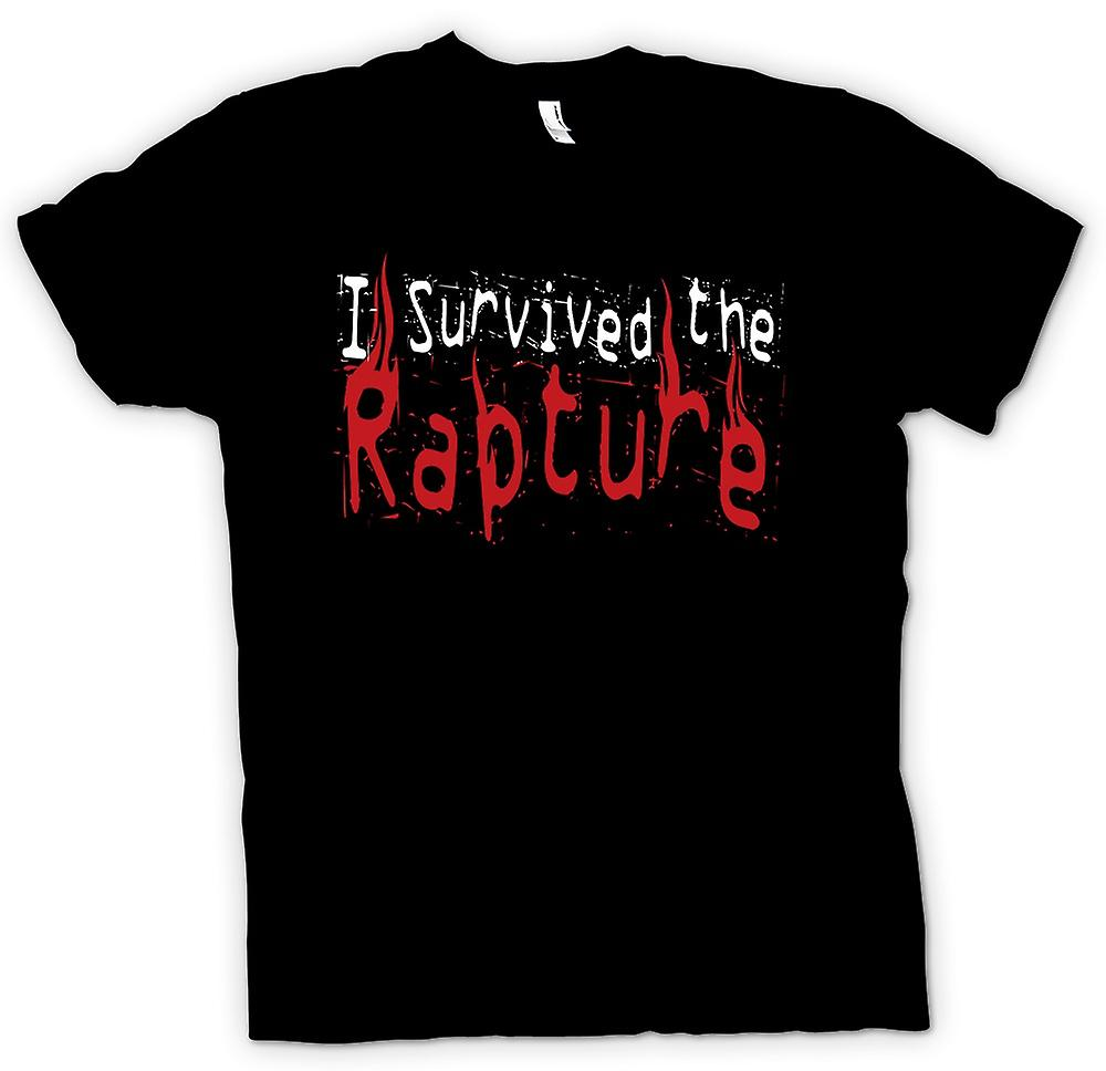 Mens T-shirt - I Survived The Rapture - Apocolypse