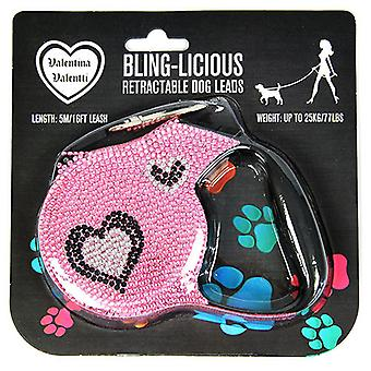 Valentina Valentti Crystallized retractable leads extending leash
