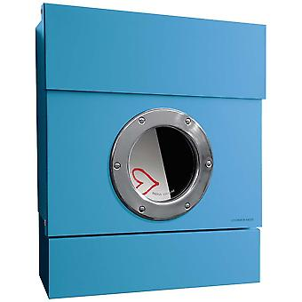 RADIUS Letterman 2 incl. newspaper role blue letterbox 505n