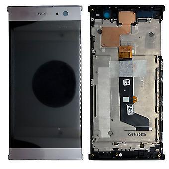 Sony Display LCD Komplett Einheit mit Rahmen für Xperia XA2 Silber Ersatzteil