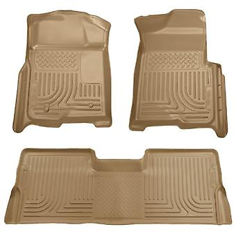 Husky Liners Front & 2nd Seat Floor Liners Fits 09-14 F150 SuperCrew