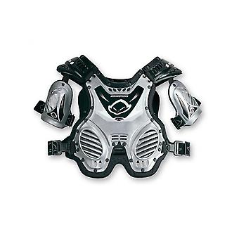 UFO Silver Shockwave Kids MX Chest Protector