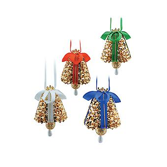 SALE - Pinflair Sequin & Pin Craft Kit - 4 Mini Bell Christmas Bauble Ornaments