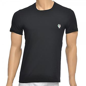 Dolce & Gabbana Sport Crest Crew Neck Stretch Cotton T-Shirt, Black, Small