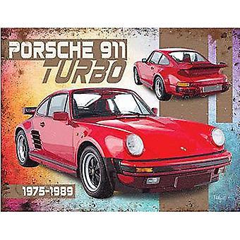 Porsche 911 Turbo staal ondertekenen 200 X 150 Mm