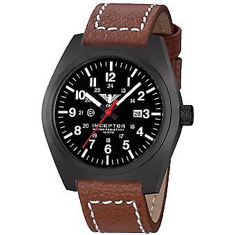 KHS acero interceptor negro reloj de KHS. INCBS. LB5