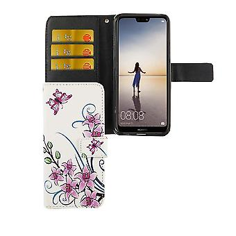 Mobile phone case pouch for mobile Huawei P20 Lite Lotus Flower