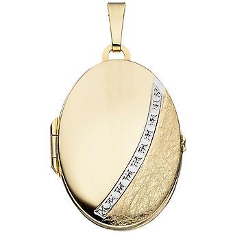 メダリオン 333/g 一部氷つや消しゴールド メダリオン部分的にロジウム メッキ ゴールド メダル