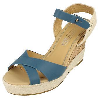 Ladies Medium Wedge Open Toe Sandal