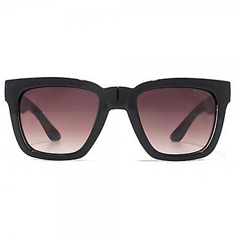 Kurt Geiger Camilla Square Sunglasses In Black On Crystal Clear