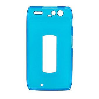 OEM Verizon lucido custodia in Silicone per Motorola DROID RAZR XT912 (blu) (Bulk