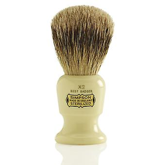 Simpsons Commodore Badger Shaving Brush - X2
