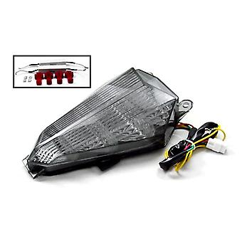 Smoke LED Tail Light Integrated with Turn Signals For 2009 Yamaha YZF R6 YZF-R6