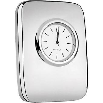 Orton West Silver Plated Desktop Clock - Silver