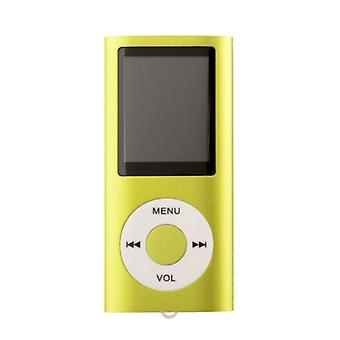 Slim MP3 Player with TF card and FM Radio Support-Green