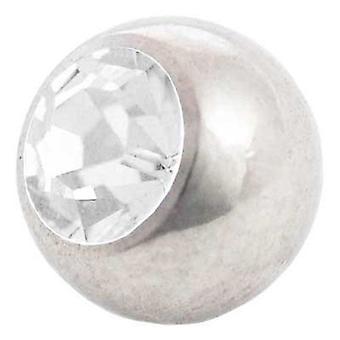 Piercing boule de remplacement blanc Pierre | 1, 6 x 4, 5 et 6 mm, bijoux de corps