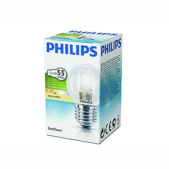 Philips EcoClassic Lustre Clear 42W E27 Kogel Halogeenlamp