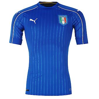 Puma Kids Italy Home Shirt 2016 Junior Boys Mesh Football Crew Neck Short Sleeve