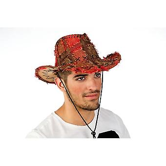 Western Hat patch Hat Hat mens peasant men Hat Red