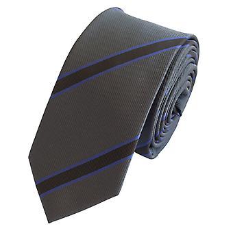 Schlips Krawatte Krawatten Binder 6cm grau lila schwarz gestreift Fabio Farini