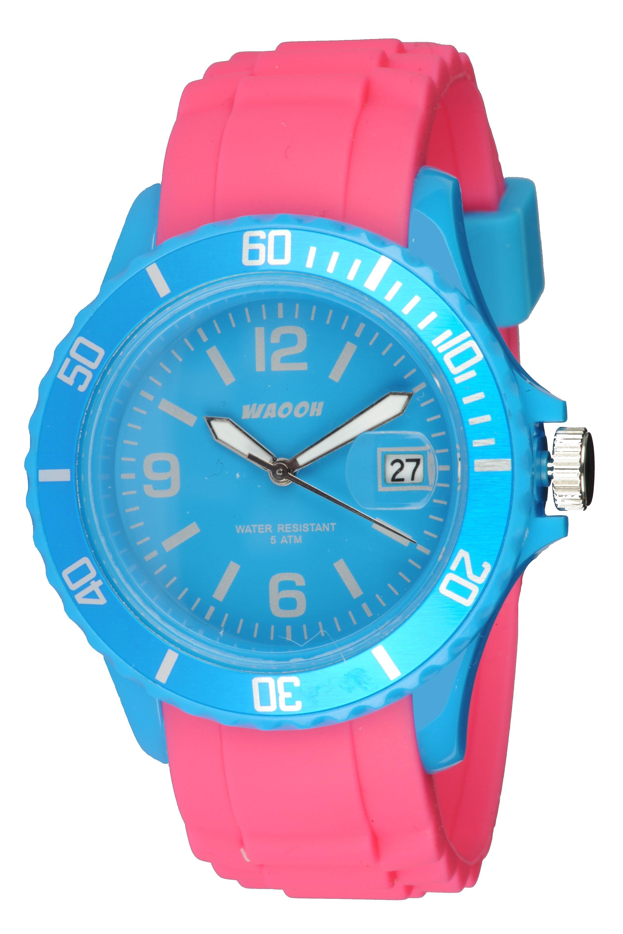 Waooh - Watch Monaco38 - Two-tone turquoise &